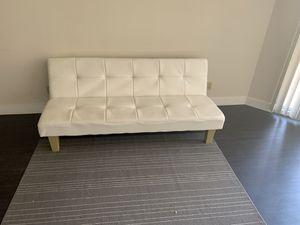 Futon sofa cream for Sale in Los Angeles, CA
