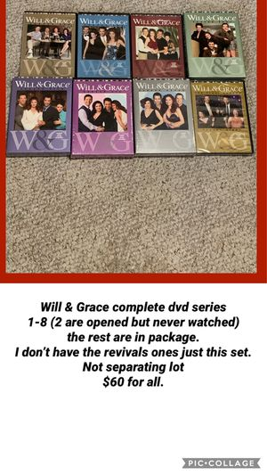 Will & Grace complete dvd series 1-8 for Sale in Vermontville, MI