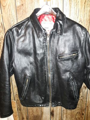Schott Horsehide leather motorcycle jacket large for Sale in Bloomington, MN