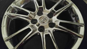 """3 17"""" Oem Nissan chrome alloy factory rims rines rimes wheels tires yantas for Sale in Plano, TX"""