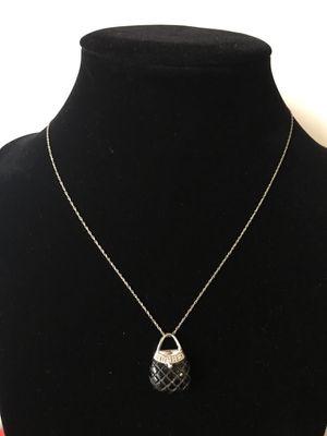 10k onyx purse necklace for Sale in Alexandria, VA