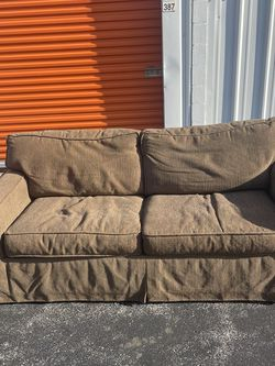 Beige/Brown Sleeper Sofa Pullout for Sale in St. Louis,  MO