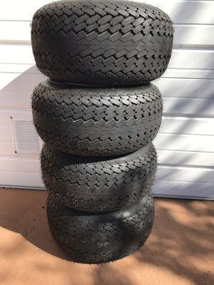 Like new golf cart tires and wheels 18x8.50 x8 for Sale in Winter Haven, FL
