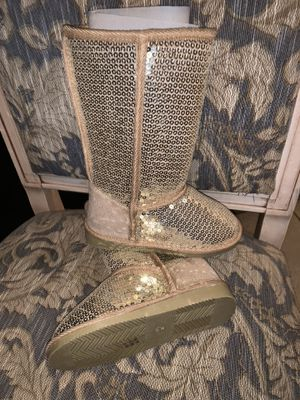 Boots gold sequence girl size 12 new for Sale in Spring Hill, FL