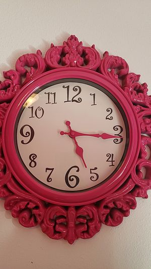 Pink Wall Clock for Sale in Lynden, WA