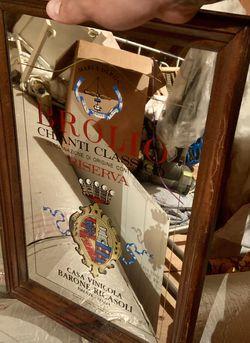1970s Mirror Bar Sign Original wooden frame for Sale in Edison,  NJ