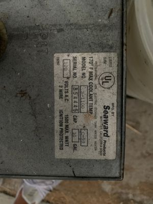 Seaward water heater for boat or sailboat for Sale in Chula Vista, CA