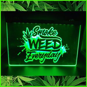 """🍁NEW 3D BUD LIFE. GOOD VIBES(+ OTHERS) 8""""×12"""" SUPER BRIGHT LED SIGN🍁MAN CAVE. BAR SIGN. GARAGE. WALL DECOR. NIGHT LIGHT🍁 for Sale in Ontario, CA"""
