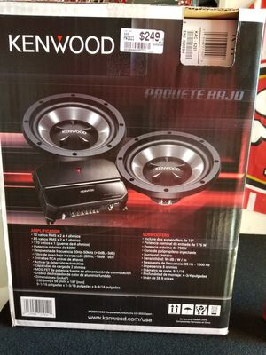Subs and amp Kenwood for Sale in Lubbock, TX