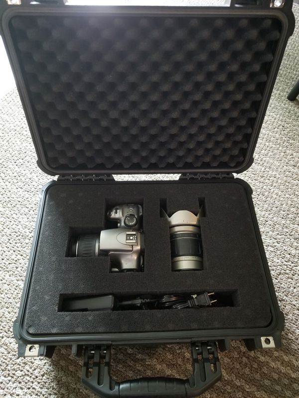 CANON EOS DLSR With 2 Lenses, Tripod, Hardcase and Charger
