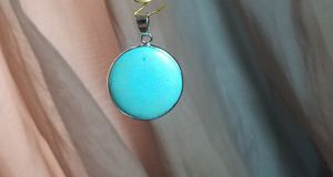 Turquoise round pendant for Sale in Columbus, OH