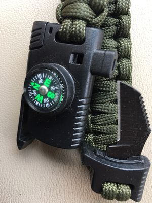 Tactical Paracord bracelet w compass and blade for Sale in Marietta, GA