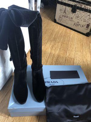 Thigh High Velvet Prada Boots for Sale in Washington, DC
