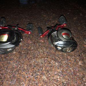 2 Abu Garcia Black Max Bait Casters for Sale in Seattle, WA
