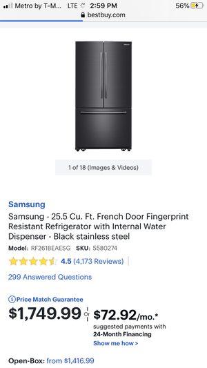 Samsung Black refrigerator for Sale in Amarillo, TX