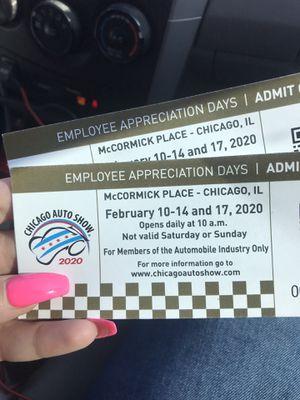 Auto Show Tickets 🎫 Tomorrow! for Sale in Elgin, IL