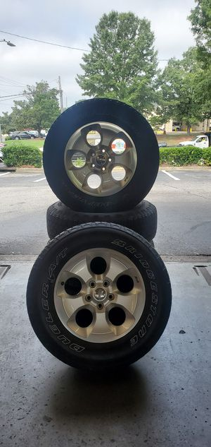 Jeep wrangler 5 wheels for Sale in Raleigh, NC