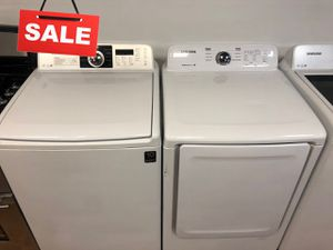 AVAILABLE NOW! Washer Electric Dryer Set Samsung XL Capacity #1531 for Sale in Greenwood, IN