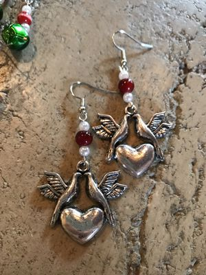 "Christmas ""Two Turtle Dove"" Earrings for Sale in Dallas, TX"