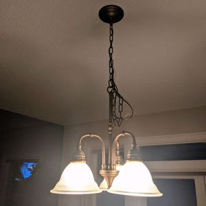 Hanging 3-Bulb Light Fixture - Nook / Dining for Sale in Scappoose, OR