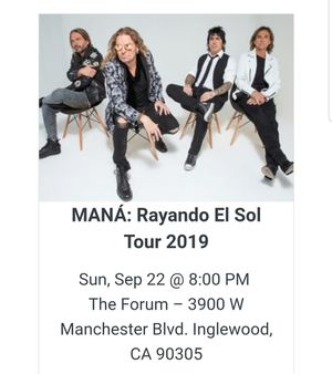 Mana tickets for sale for Sale in Norwalk, CA