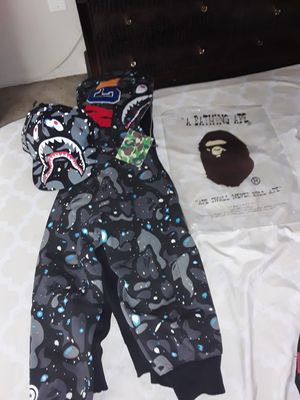BAPE SHARK HOODIE & HAT!! for Sale in Capitol Heights, MD