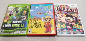 Super Mario Maker Carnival Games Wii Super Luigi U  Games for Nintendo wii $20 each or $50 for ALL for Sale in Seaford, NY
