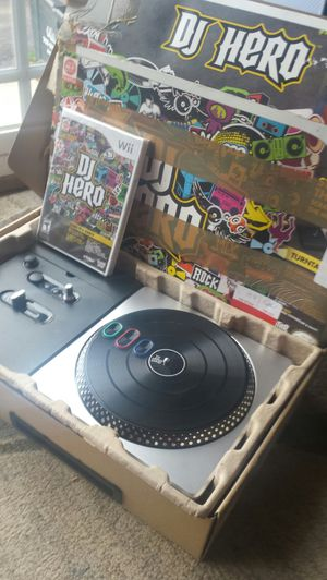 DJ Hero with Turntable Controller Bundle [Wii Game] for Sale in Fairfax, VA