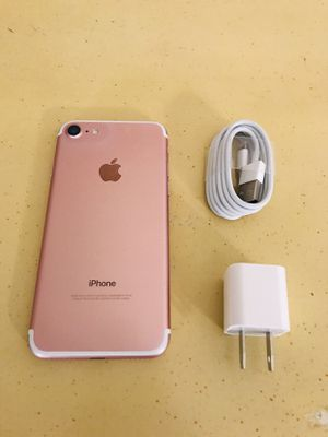 PINK ROSE GOLD IPHONE 7 32GB UNLOCKED VERIZON T-MOBILE METRO PCS CRICKET ATT. HABLO ESPAÑOL. MEXICO COLOMBIA ETC. for Sale in Los Angeles, CA