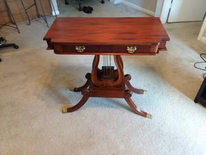 Antique Mahogany Double Lyre Pedestal Table for Sale in Spartanburg, SC