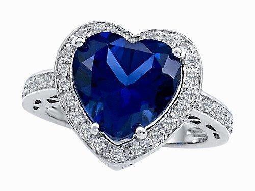 Beautiful Sapphire Diamond Ring Gold Jewelry 2.5 Carats