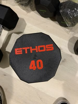 Ethos 40 lb rubber hex dumbbell (brand new!) for Sale in San Jose, CA