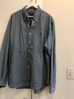 Polo male's jeans shirt size XXL/slim fit for Sale in Falls Church, VA