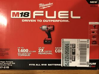 """Milwaukee M18 Fuel 1/2"""" High Torque Impact Wrench Kit w/ Friction Ring 2767-21B for Sale in Haverhill,  MA"""