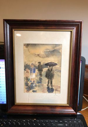 "Vintage Vineland, New Jersey Artist Matilda Phifer Watercolor From an Estate Frame Size 11.5"" x 14.5"" Needs a New Plexiglass for Sale in Berlin, NJ"