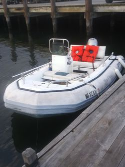 1996 12 Ft Center Console Inflatable With 2006 40H Honda 4 Stroke! With Trailer for Sale in New Bedford,  MA
