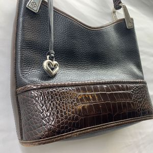 Brighton Handbag PURSE Leather Croc Heart Charm excellent condition for Sale in Roseville, CA
