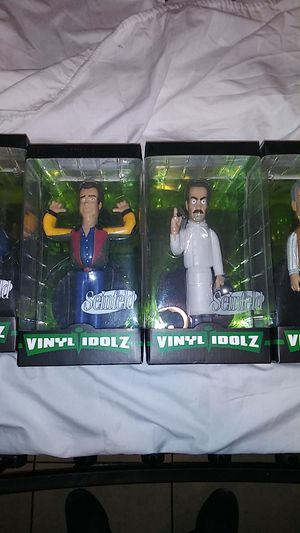 Seinfeld Vinyl Idolz Action Figure Collectible Soup Nazi,Newman,Puddy,Peterman for Sale in Tracy, CA