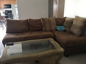 Brown sectional couch for Sale in Woodstock, GA