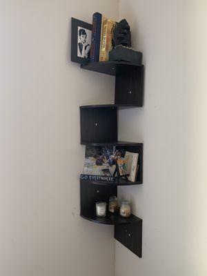 Solid oak six shelf Corner piece for Sale in Arlington, VA