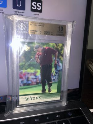 tiger woods BGS 10 pristine 2001 upper deck 1 for Sale in Sioux Falls, SD