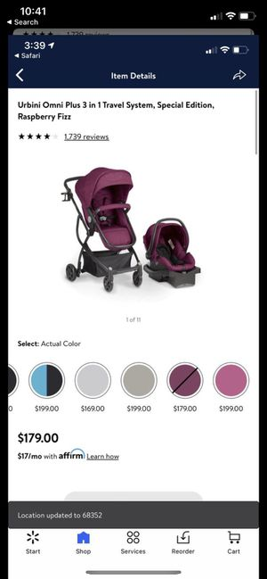 Urbini reversible travel system with car seat and base for Sale in Alexandria, VA