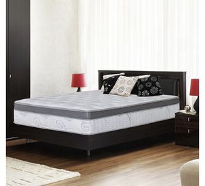 .Olee Sleep 13 inch Galvaxy Hybrid Gel Infused Memory Foam and Pocket Spring Mattress (Queen) for Sale in Worthington, OH