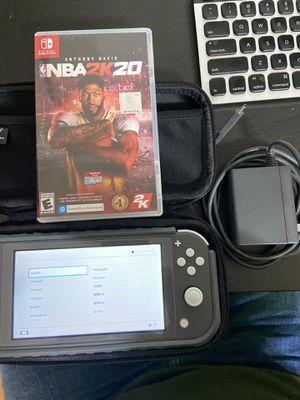 Nintendo Switch Lite Gray w/ NBA 2k20, Bumper Case, 128gb Memory card for Sale in Duncanville, TX