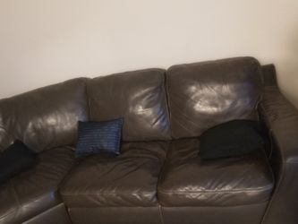 2 Piece Sectional Grey Couch. for Sale in Trainer,  PA