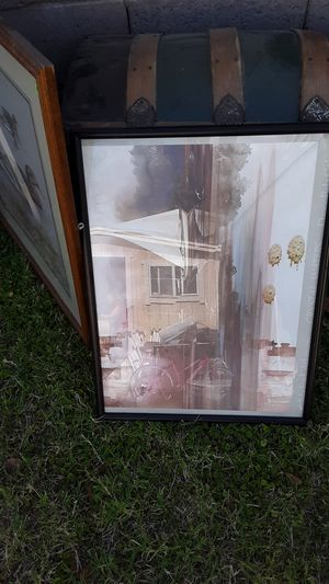 Sailboat picture in good condition glass cracked for Sale in Glendale, AZ