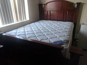 Cherry Wood Queen Size Bedroom Set for Sale in Cave Creek, AZ