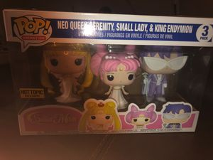 Sailor moon three pack Hot Topic Exclusive POP Figurines for Sale in San Antonio, TX
