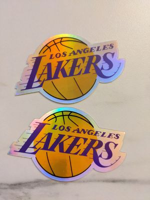 Los Angeles Lakers Logo Basketball Holographic Sticker | Lakers Sticker | Holographic sticker | LA Lakers Basketball sticker for Sale in Ontario, CA