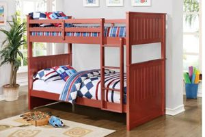 Columbus Day Special- [SPECIAL] Bora Red Twin over Twin Bunk Bed for Sale in Houston, TX